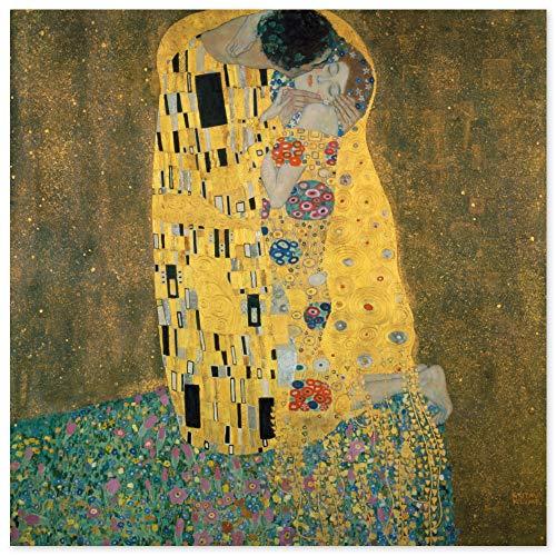 JUNIWORDS Poster, Gustav Klimt, Der Kuß, Der Kuss, Das Liebespaar, 80 x 80 cm