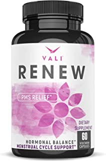 PMS Relief Supplement Premenstrual Cycle Support - 60 Veggie Capsules. Herbal Formula Complex with Vitamins for Menstrual ...