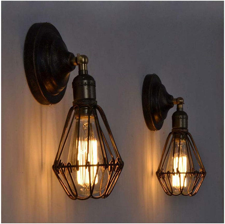Y.H_Super Kronleuchter Deckenbeleuchtung Vintage Wall Mounted Lampenhalter Home Cafe Shop Licht Rack mit E27 Wandleuchte Lampe