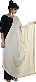 Beautiful Chiffon Dupatta With Gotta Patti Work Stole Chunni Scarf Neck Wrap For Women