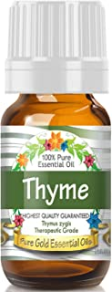 Sponsored Ad - Pure Gold Thyme Essential Oil, 100% Natural & Undiluted, 10ml