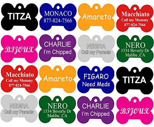 CNATTAGS Pet ID Tags, Premium Aluminum, 8 Colors to Choose