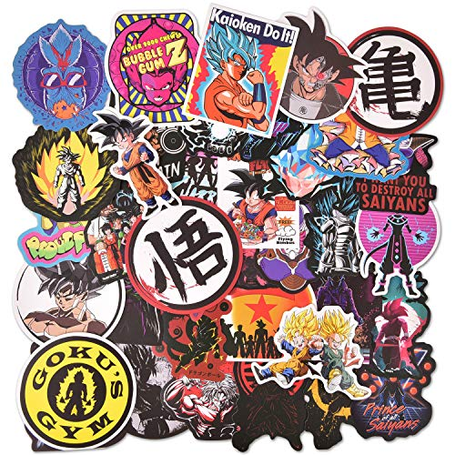 150Pcs Dragon Ball Z Laptop Stickers Anime Vinyl Sticker for Nintendo Switch Laptop Water Bottle Bike Car Motorcycle Bumper Luggage Skateboard Graffiti Cute Animal Monsters Decal Best for Kids