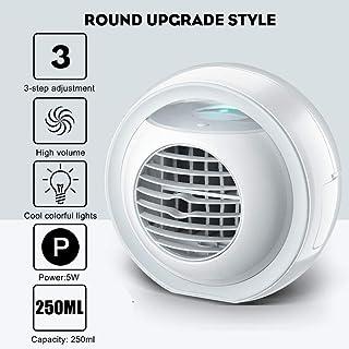LYCXIAO Mini Ventilador de Aire Acondicionado portátil de 12 V refrigerado por Agua Aire Acondicionado de Escritorio USB con Luces de Colores Humidificador de Tanque de Agua Tipo 4