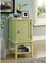 Major-Q Floor Cabinet Storage for Dining/Kitchen/Living Room, Rectangular, Wood Rustic and Light Yellow Finish, 16 x 16 x 30