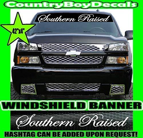 "SOUTHERN RAISED 42"" Windshield Brow VINYL DECAL Sticker Diesel Truck Car South"