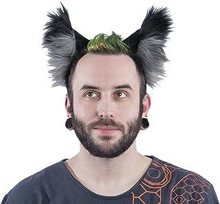 Pawstar White Furry Wolf Ears Headband