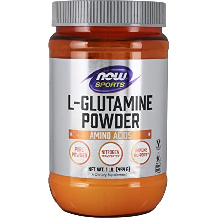 NOW Sports Nutrition, L-Glutamine Pure Powder, Nitrogen Transporter, Amino Acid, White, 16 Oz