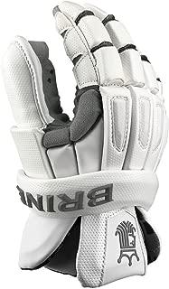 Brine King Elite Lacrosse Goalie Gloves White 12 inch