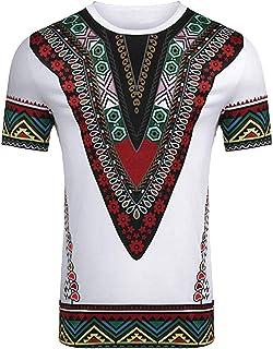 Joe Wenko Men Printed Shirt Africa Tribal Top Long Sleeve T-Shirt