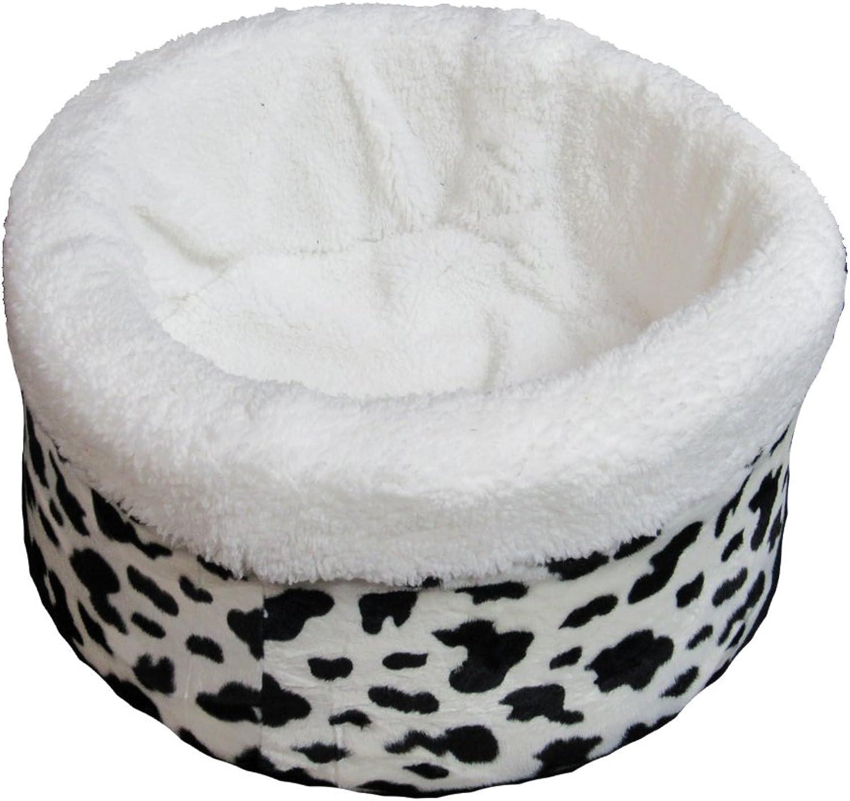 Beds 4 All 21  Nest Cow Print Pet Bed, Medium