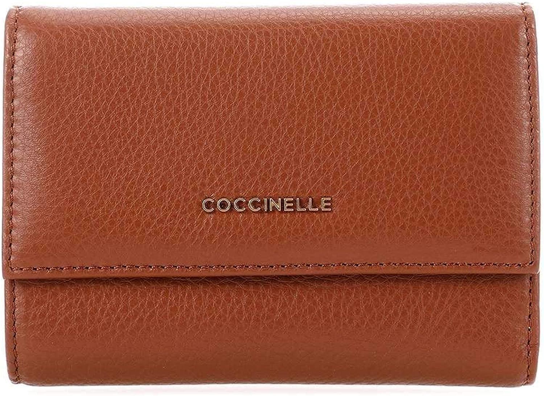 COCCINELLE Wallet METALLIC SOFT Female Leather Brule  E2DW5116601W74