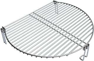 Onlyfire Stainless Steel Grill Expander Cooking Grate Fits for Charcoal Kettle Grills Like Weber,Char-Broil and Ceramic Grills Like Large Big Green Egg,Kamado Joe Classic,Pit Boss,Louisiana