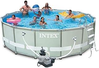 comprar comparacion Intex 28324 Ultra Rondo I Frame - Juego de Piscina con Filtro de Arena (4542 l/h, Escalera, Lona Protectora, Lona Protecto...
