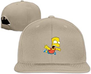 Bart-Simpson Flat-Brimmed Baseball Cap Trucker Hat