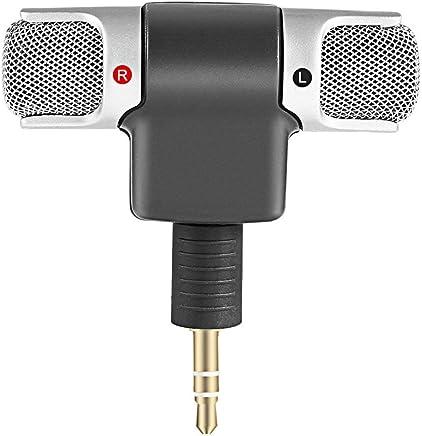 Mini microfono stereo digitale Microfono da 3,5 mm Mini Jack per PC notebook portatile Registrazione stereo canale sinistro e destro - Trova i prezzi più bassi