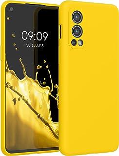 kwmobile telefoonhoesje compatibel met OnePlus Nord 2 5G - Hoesje met siliconen coating - Smartphone case in levendig geel