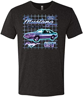 Ford - GT The BOSS Mustang 80'S (Front) - Officially Licensed - TRI-Blend Tee