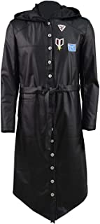 Hot Online Game Battlegrounds Players Costume Black Leather Overcoat Trench Coat