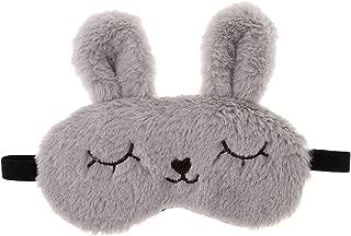 Prettyia Cute Plush Bunny Sleep Mask Eye Shade Rabbit Eye Cover Blindfold
