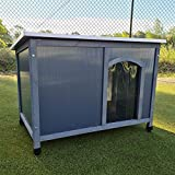 FeelGoodUK Dog Kennel Twin Wall Plastic Panels Easy Clean Rain and Wind Protector Large Dog Kennel