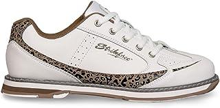 KR Strikeforce L-050-070 Curve Bowling Shoes, White/Leopard, Size 7