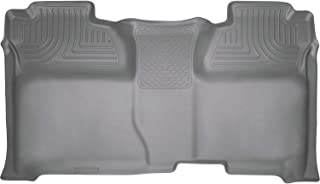 Husky Liners Fits 2014-18 Chevrolet Silverado/GMC Sierra 1500 Crew Cab, 2015-19 Chevrolet Silverado/GMC Sierra 2500/3500 Crew Cab Weatherbeater 2nd Seat Floor Mat (Full Coverage),Grey,19232
