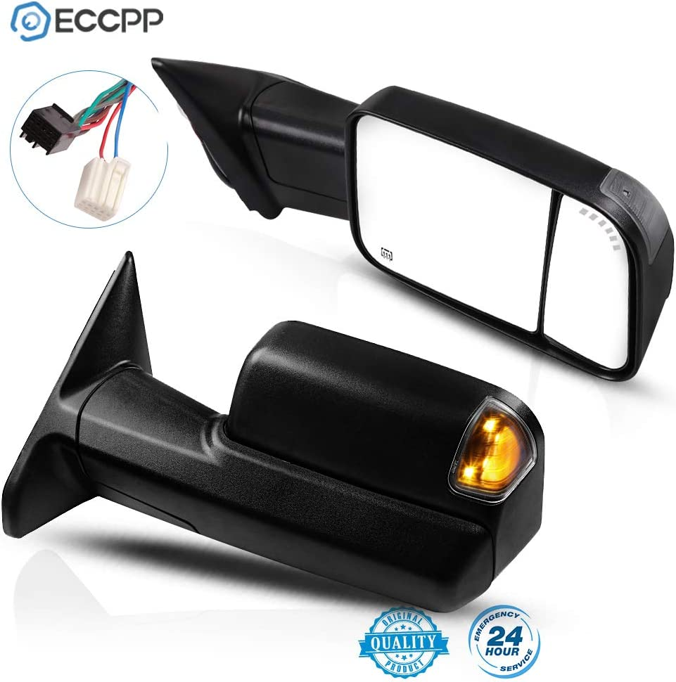 ECCPP Towing Mirrors Fit for 2021 Dodge 2500 3500 1500 Ram 2009-2 Mail order cheap