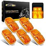 Partsam Five Trailer Marker LED Light Double Bullseye Amber 10 Diodes Light