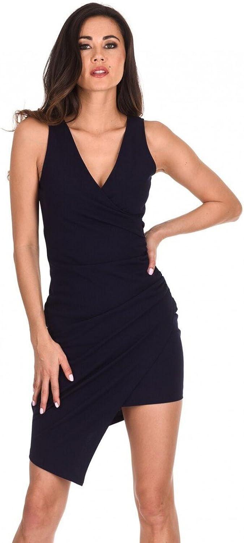 AxParis AX Paris Women's VNeck Wrap Skirt Dress