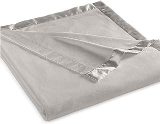 Martha Stewart Easy Care Soft Fleece Blanket (King, Gray)