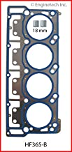 ENGINETECH HF365-B MLS Cylinder Head Gasket (18MM Head Dowel) Compatible with 2003-2006 Ford Diesel 6.0L 365 OHV V8 Powerstroke