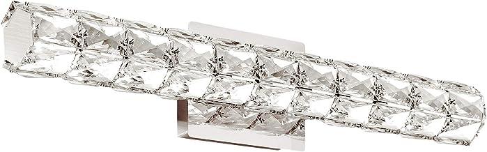 "Bathroom Lighting Fixtures Over Mirror,Letsun 24.21"" Bathroom Vanity Light Fixtures 18W Modern Crystal LED Vanity Lights C..."