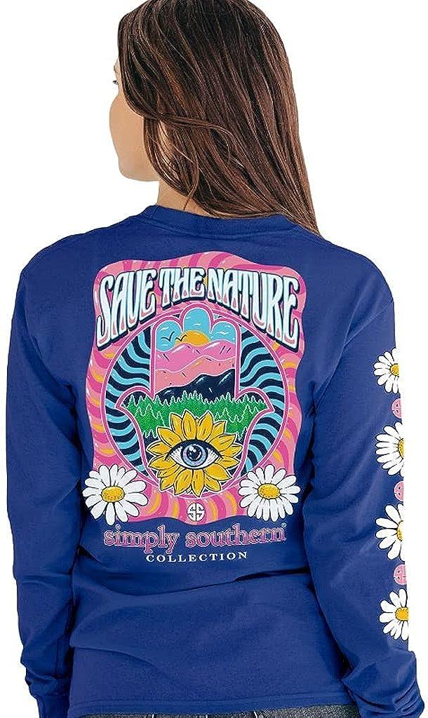 Simply Southern Save The Nature Daisy Hamsa Long Sleeve T-Shirt
