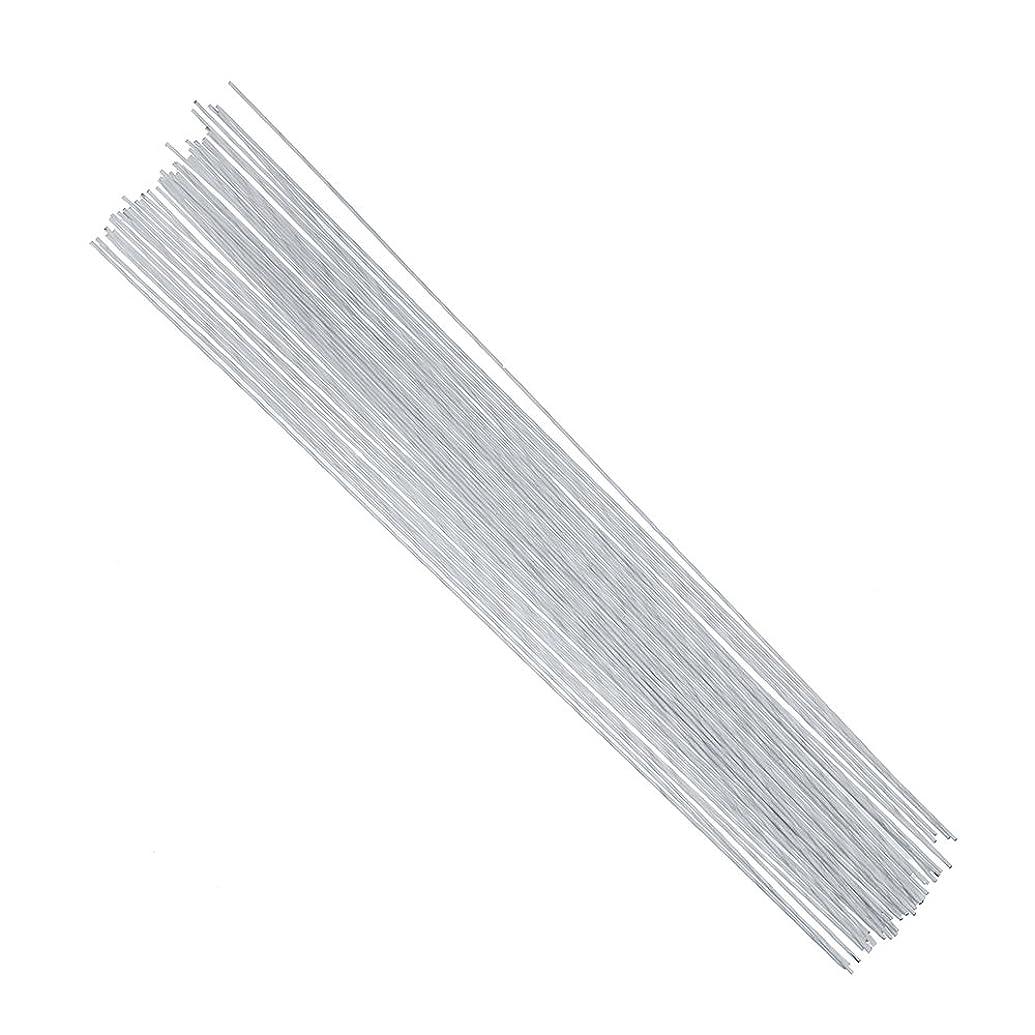 DECORA 18 Gauge White Floral Stem Wire 16 inch,50/Package