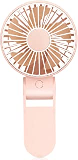 TriPole Mini Handheld Fan USB Portable Fans Rechargeable Battery Operated Foldable Desk Fan 3 Speed Hanging Personal Fan for Home Office Indoor Use Outdoor Travel