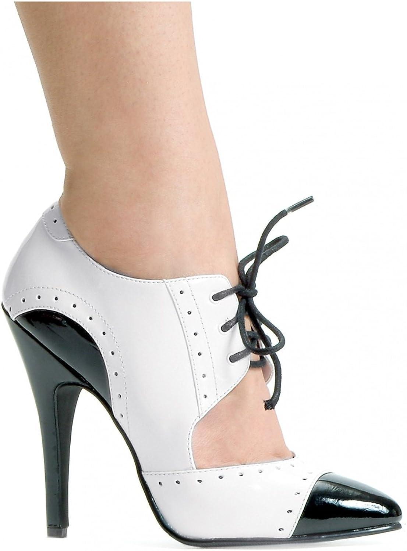 ELLIE 511-GANGSTER 5  Heel Two Tone Closed Toe Oxford Women's Sandal