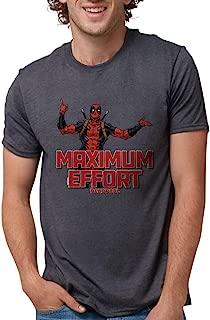 Deadpool Maximum Effort Mens Tri Tri-Blend Tee