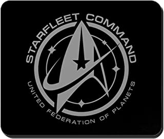 CafePress Grey Starfleet Command Emblem Non-Slip Rubber Mousepad, Gaming Mouse Pad