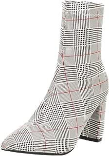 JOJONUNU Women Fashion Ankle High Boots