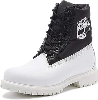 Timberland 6 Inch Premium Puffer Mens White/Black Boots