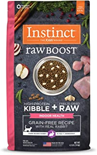 Instinct Raw Boost Indoor Dry Cat Food, Grain Free Indoor Health Recipe High Protein Kibble + Freeze Dried Raw Cat Food