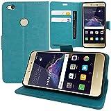 AnnaRT® - Funda tipo libro con tapa y función atril para Huawei P8 Lite (2017) 5.2'/P9 Lite (2017)/Honor 8 Lite/Nova Lite/GR3 (2017), color azul