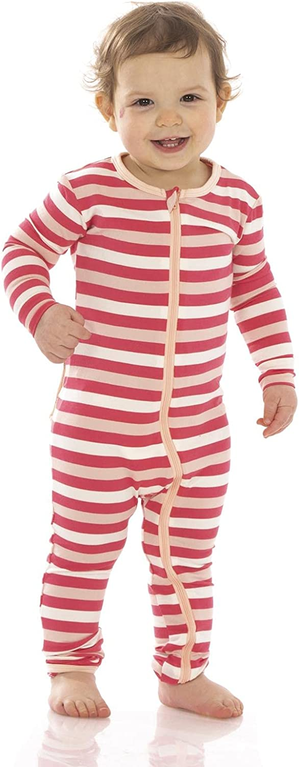 KicKee Pants Print Coverall with Popular brand Zipper Super Clothes Dallas Mall Baby Soft