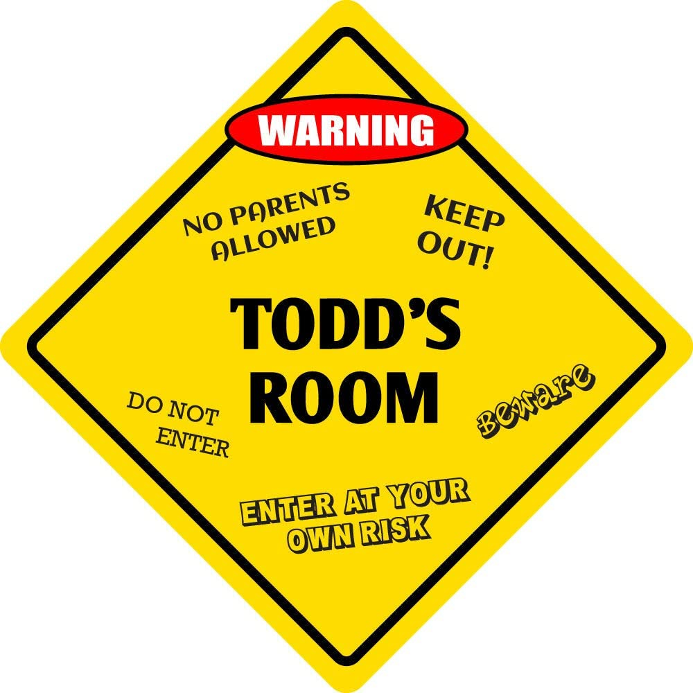 Sign Wall Signboards Poster Decor - half Kids Ro Room supreme Aluminum Todd's