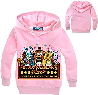 Unisex Five Nights at Freddy'S Sencillas Fashion Sudaderas con Capucha Suelta Ocasionales Impresión Pullover para Niños y ...