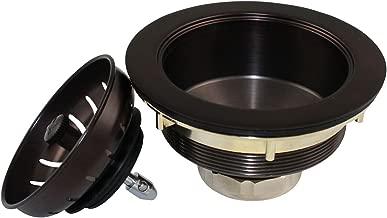 Plumb Pak K1439BRZ Keeney Deep Thread Cast Brass Kitchen Sink Strainer with Power Ball Basket 3.5