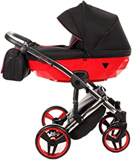 Silla de paseo combinada Junama silla de bebé con silla de paseo premium + accesorios Isofix seleccionable Diamond S de Ferriley & Fitz Chilly Red 01 2en1 sin asiento