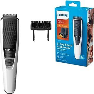 Philips Beard & Stubble Trimmer for Men, Series 3000, 10 Length Settings, Self-Sharpening Blades, UK 3-Pin Plug - BT3206/1...