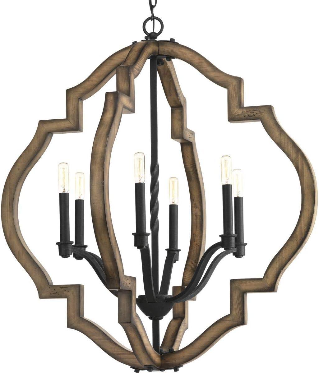 Progress Louisville-Jefferson County Mall Lighting P4767-71 Spicewood Six-Light Gilde Ranking TOP2 Chandelier